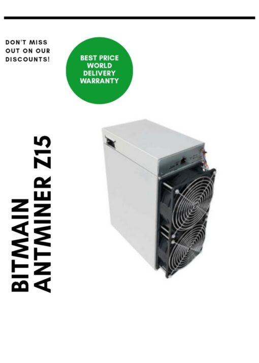 Buy Bitmain Antminer Z15 420 ksol/s